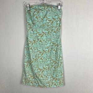 GAP Floral Print Strapless Dress